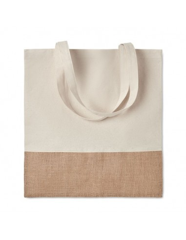 Sac promotionnel à provisions avec finition jute.